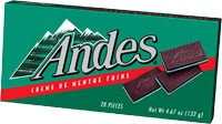 Image of Andes Crème de Menthe Thins (4.67 oz./28 ct. Box) Package