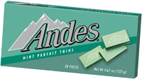 Image of Andes Mint Parfait Thins Package
