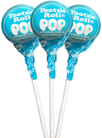 Image of Blue Raspberry Tootsie Pops (50 ct. Bag) Package