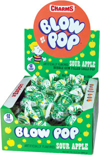 Image of Charms Blow Pop Sour Apple Package