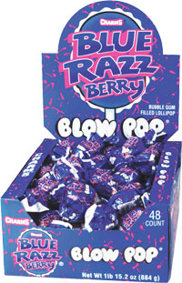 Image of Charms Blow Pop Blue Razz Berry Package