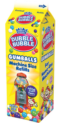 Image of Dubble Bubble Gumballs (Refill Carton) Package