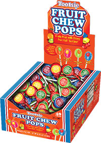Image of Fruit Chew Pops (48 ct. Box) Package