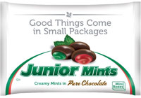 Image of Christmas Junior Mints 10 oz. Snack Bag Package