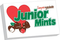 Image of Junior Mints Valentine Hearts (3.5 oz. Box) Package