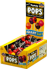Image of Tootsie Pops Giant (72 ct. Box) Package