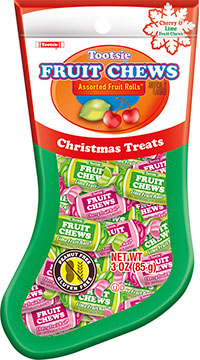 Image of Tootsie Fruit Chew Stocking (3 oz. Pouch) Package