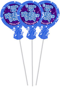 Image of Wild Blue Berry Tootsie Pops (50 ct. Bag) Package