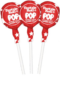 Image of Cherry with Stars Wrapper Tootsie Pops (50 ct. Bag) Package