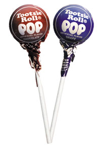 Image of Chocolate & Grape Tootsie Pops Combo Pack (2 x 50 ct. Bag) Package