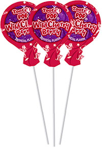Image of Wild Cherry Berry Tootsie Pops (50 ct. Bag) Package