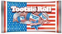 Image of Tootsie Roll Midgees Flag Bag (11 oz. Bag) Package