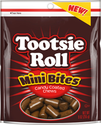Image of Tootsie Roll Mini Bites 9 oz. Resealable Pouch Package