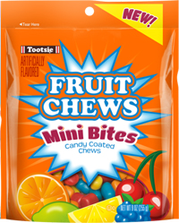 Image of Tootsie Fruit Chew Mini Bites 9 oz. Resealable Pouch Package