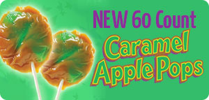 New 60 Count Caramel Apple Pops
