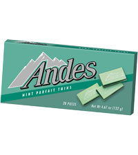 Image of Andes Mint Parfait Thins Packaging