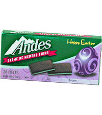 Image of Andes Crème de Menthe Thins Easter Gift Card Sleeve (4.67 oz./28 ct. Box) Packaging