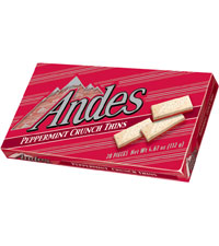 Image of Andes Peppermint Crunch Thins Packaging