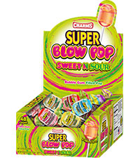 Image of Sweet 'N Sour Super Blow Pop Packaging
