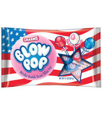 Image of Charms Blow Pop Flag Bag (9.1 oz. Bag) Packaging