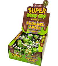 Image of Charms Caramel Apple Super Blow Pop Packaging