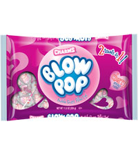 Image of Valentine's Day Cherry Blow Pop (11.5 oz. Bag) Packaging