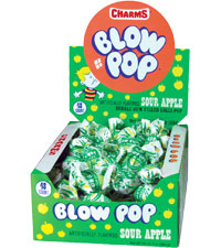 Image of Charms Blow Pop Sour Apple Packaging