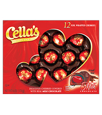 Image of Cella's Milk Chocolate (12 ct. Box) Packaging