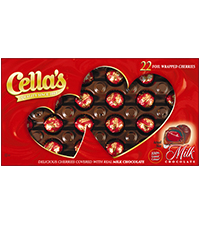 Image of Cella's Milk Chocolate Valentine Gift Box (22 ct. Box) Packaging