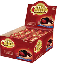 Image of Cella's Dark Chocolate (72 ct. Box) Packaging