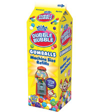 Image of Dubble Bubble Gumballs (Refill Carton) Packaging
