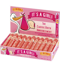 Image of It's a Girl Cigar Box Packaging