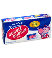 Image of Dubble Bubble Nostalgic Box Packaging