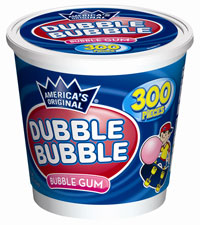 Image of Dubble Bubble Original Twist (300 ct. Tub) Packaging