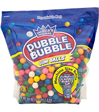 Image of Dubble Bubble Gumballs (3.3 lb Pouch) Packaging