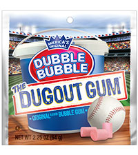 Image of Dubble Bubble Dugout Gum (2.25 oz Bag) Packaging