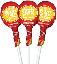 Strawberry with Lemon Center Fruit Chew Pops (50 ct. Bag) [chr-fcstrwb.jpg]