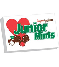 Image of Junior Mints Valentine Hearts (3.5 oz. Box) Packaging