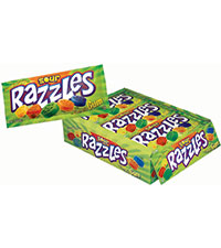 Image of Razzles Sour Pouch Packaging