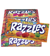Image of Razzles Tropical Pouch Packaging