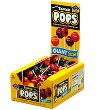 Image of Tootsie Pops Giant (72 ct. Box) Packaging