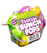 Image of Tootsie Tropical Easter Bunch Pops Packaging