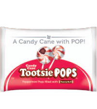 Candy Cane Tootsie Pop (9.6 oz./Approx. 15 ct. Bag) [chr-tp047504.jpg]