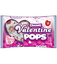 Image of Charms Valentine Pops (11.5 oz bag) Packaging