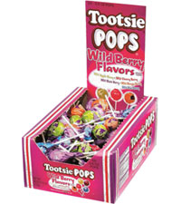 Image of Tootsie Pops – Wild Berry Flavors Packaging