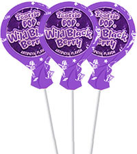 Image of Wild Black Berry Tootsie Pops (20 ct. Bag) Packaging