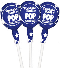 Blue Raspberry with Stars Wrapper Tootsie Pops (50 ct. Bag) [chr-tpbrberry.jpg]