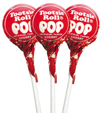 Image of Cherry Tootsie Pops (50 ct. Bag) Packaging