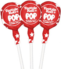 Image of Cherry with Stars Wrapper Tootsie Pops (50 ct. Bag) Packaging