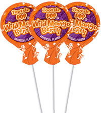 Image of Wild Mango Berry Tootsie Pops (50 ct. Bag) Packaging